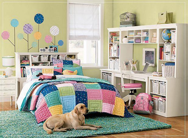teen-girl-bedroom-multi-color-pretty-fun-scheme-idea-decor-inspiration-study-area