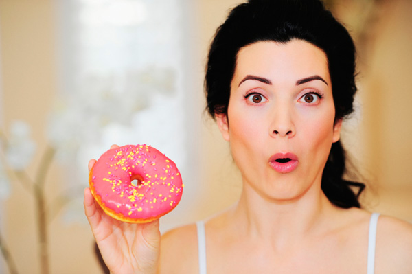 woman-with-sugary-donut
